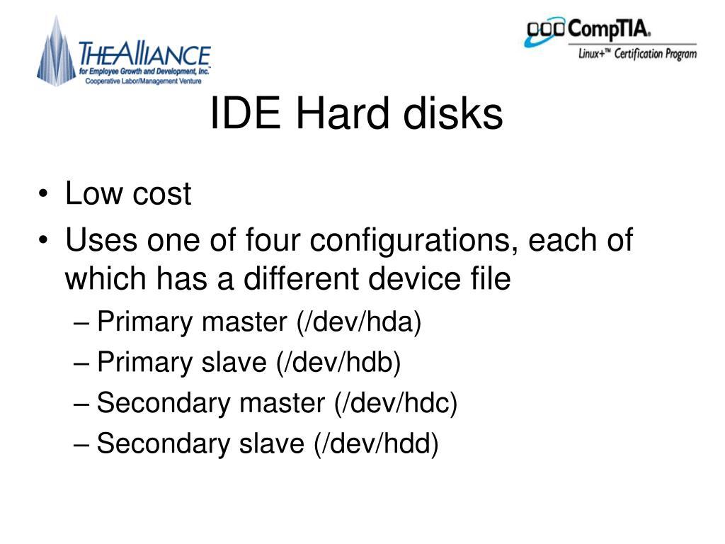 IDE Hard disks