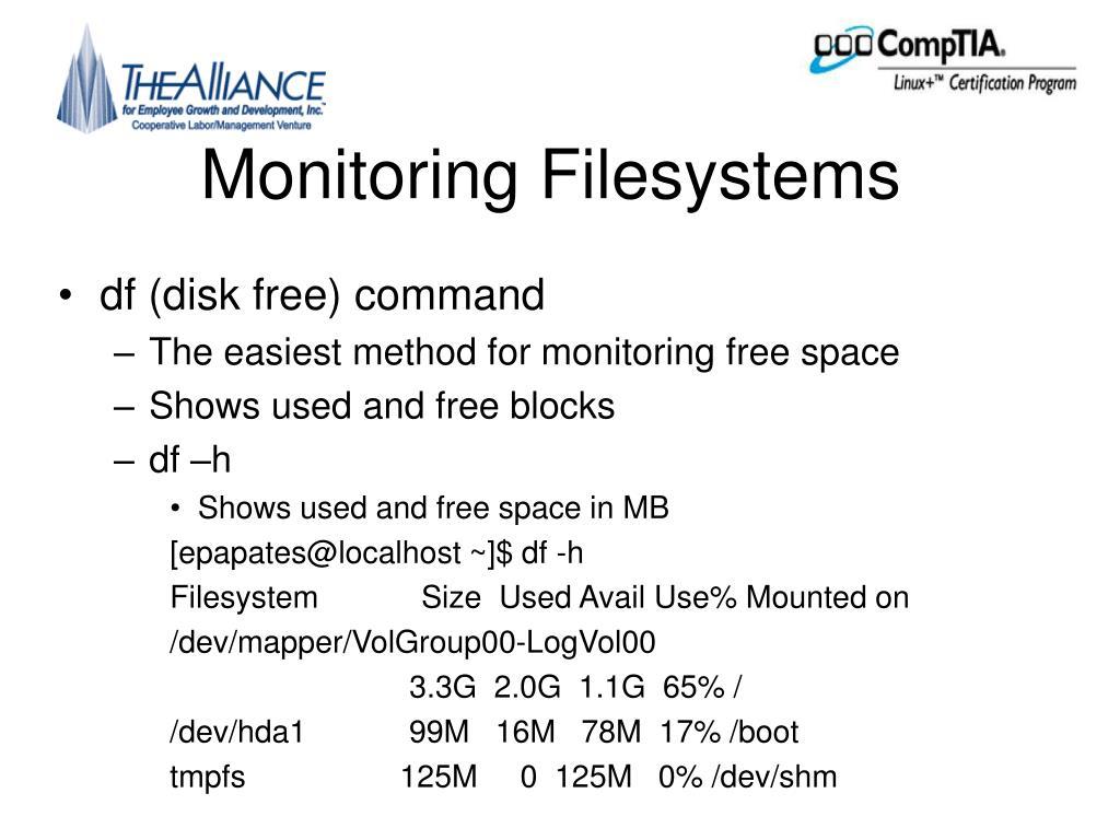 Monitoring Filesystems