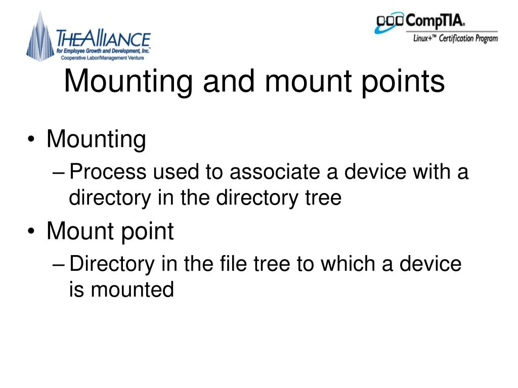 Mounting and mount points