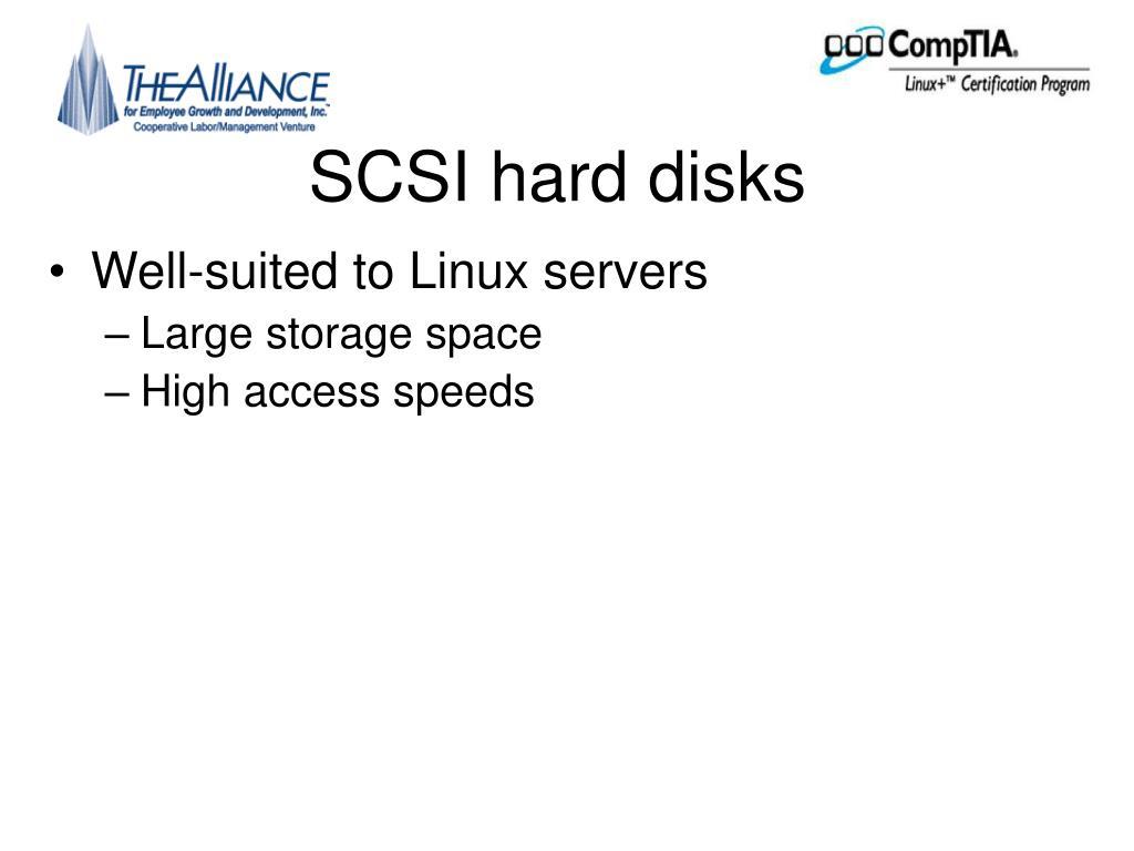 SCSI hard disks