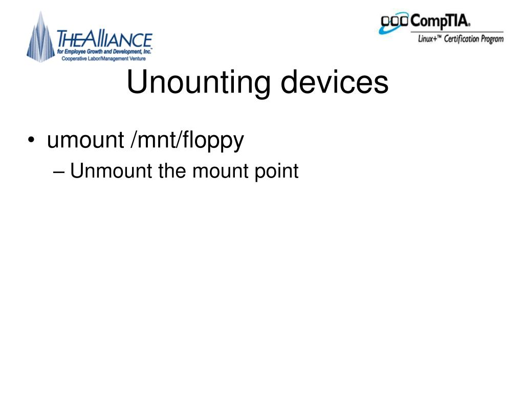 Unounting devices