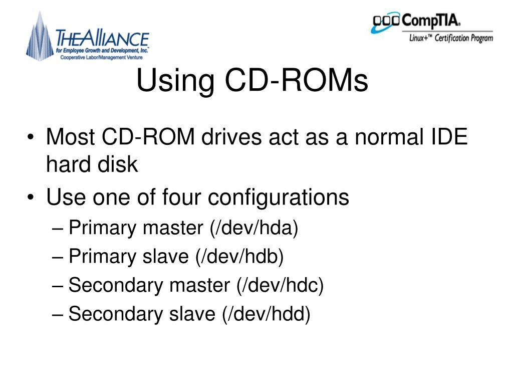 Using CD-ROMs