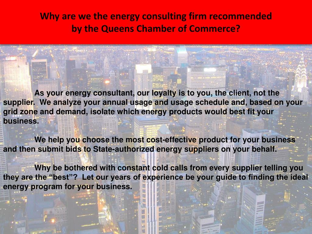Why are we the energy consulting firm recommended