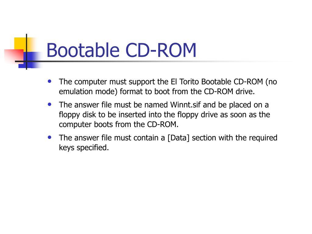 Bootable CD‑ROM