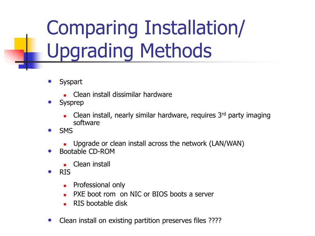 Comparing Installation/