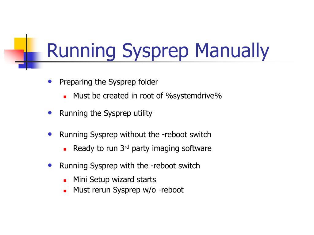 Running Sysprep Manually