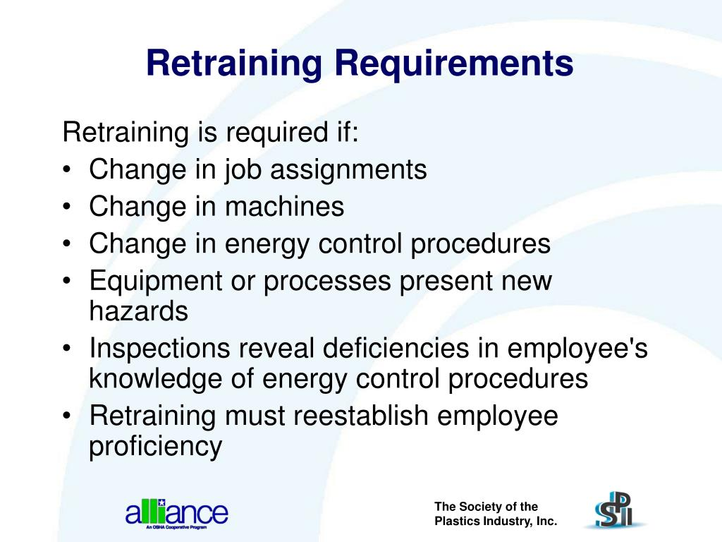 Retraining Requirements