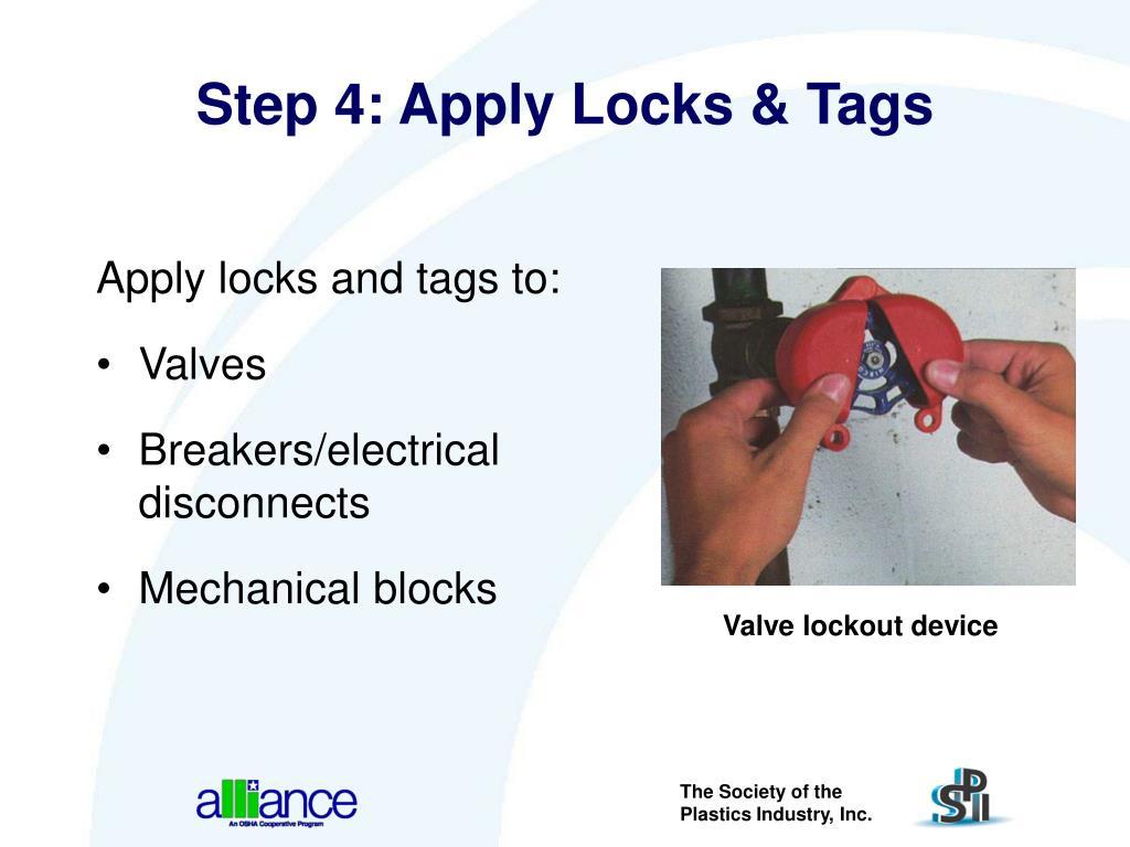 Step 4: Apply Locks & Tags