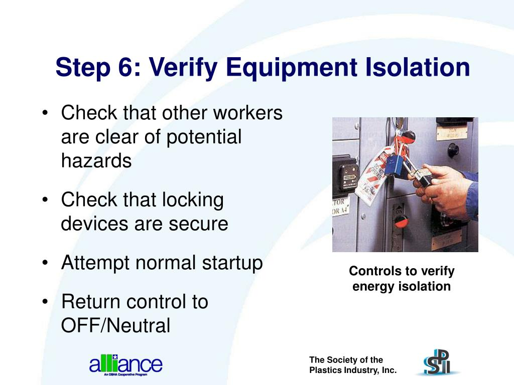 Step 6: Verify Equipment Isolation