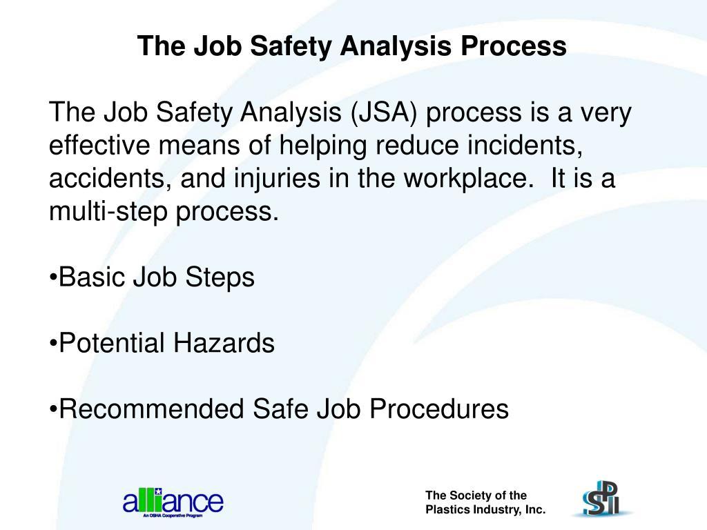 The Job Safety Analysis Process