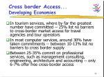 cross border access developing economies
