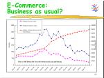 e commerce business as usual