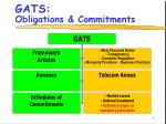 gats obligations commitments