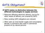 gats obligations