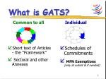 what is gats