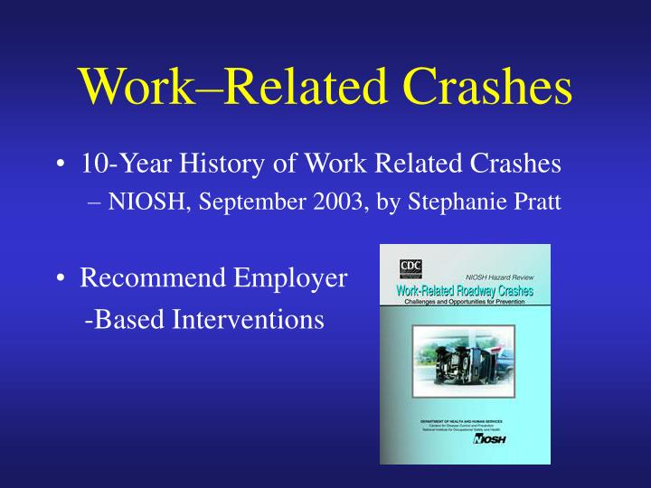 Work related crashes