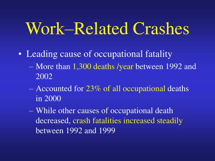 Work related crashes3