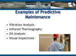 examples of predictive maintenance