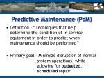 predictive maintenance pdm