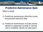 predictive maintenance quiz