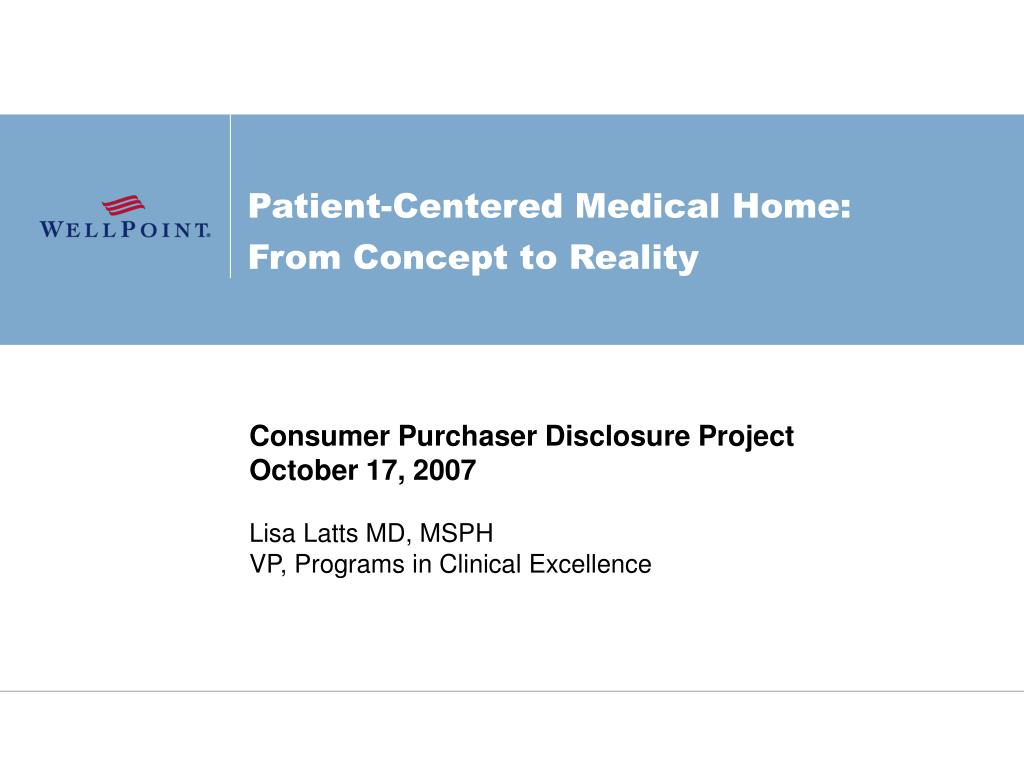 patient centered medical home from concept to reality l.