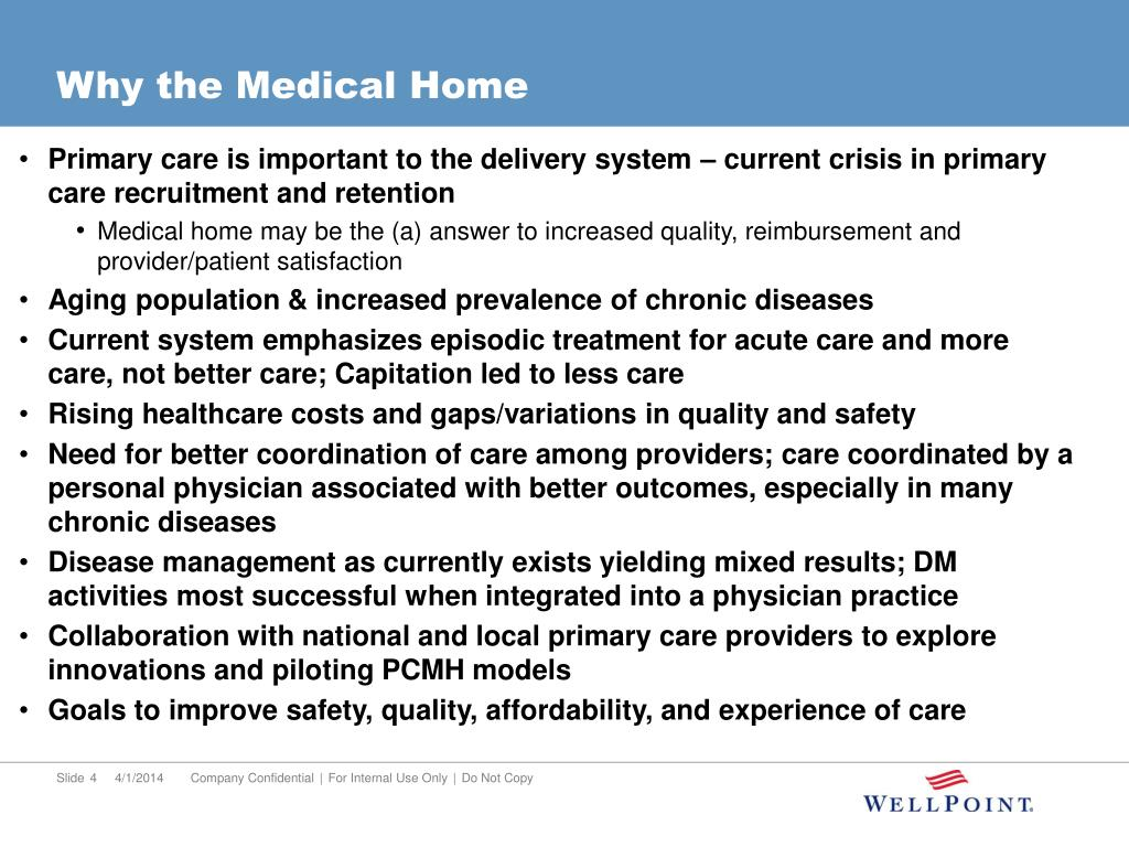 Why the Medical Home