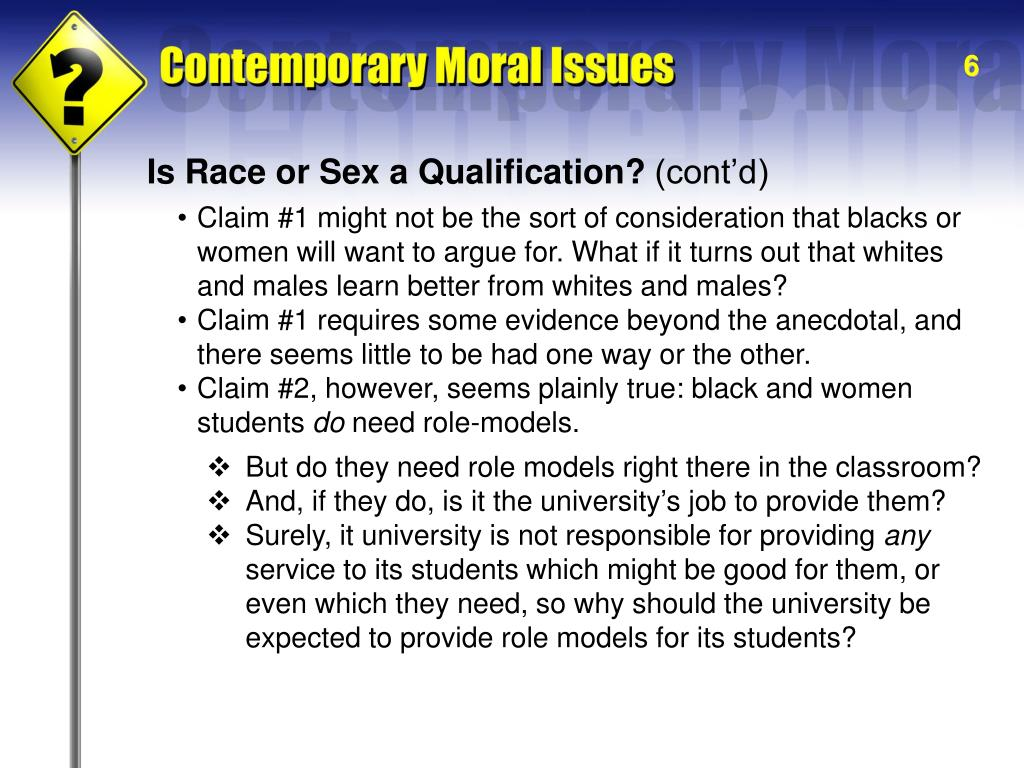 Is Race or Sex a Qualification?