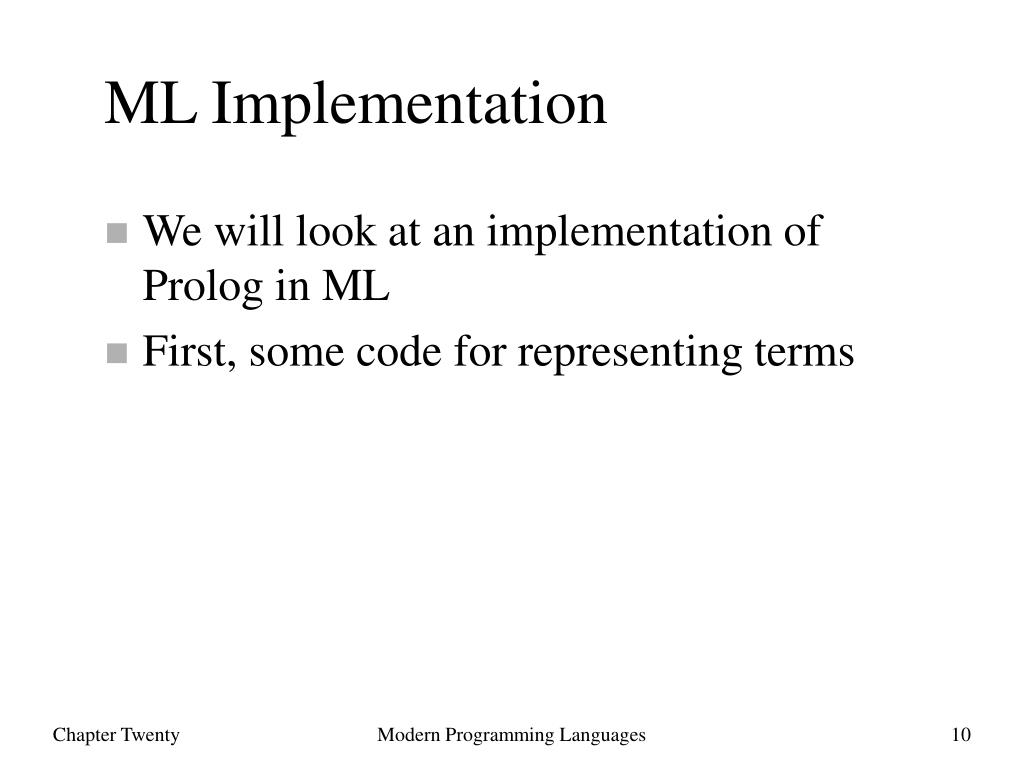 ML Implementation
