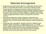 materiale feromagnetice