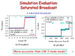 simulation evaluation saturated broadcast
