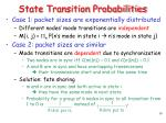 state transition probabilities