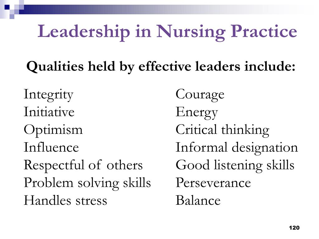 Qualities held by effective leaders include: