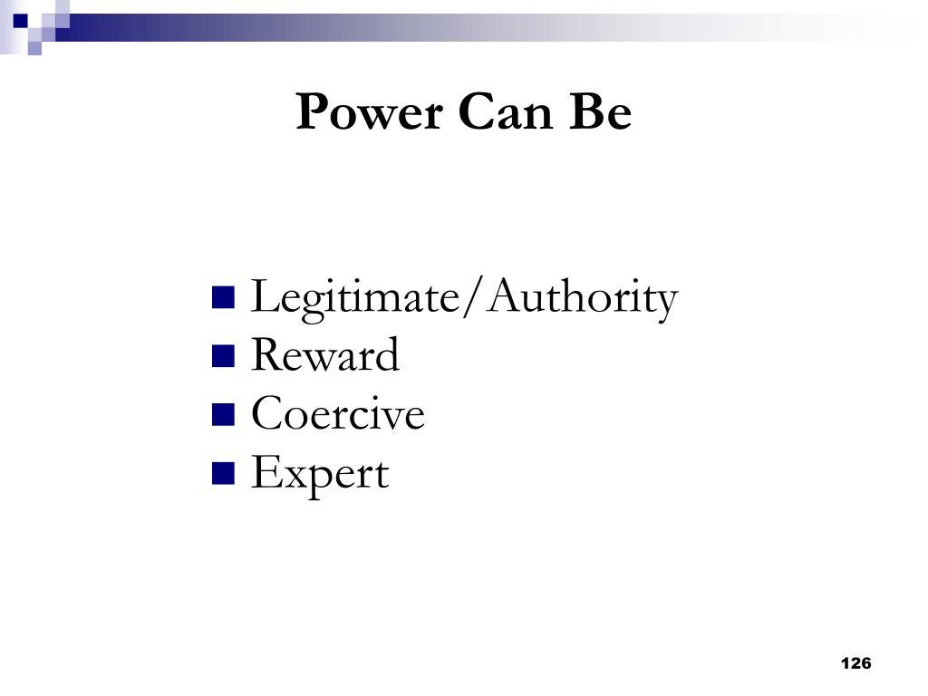 Legitimate/Authority