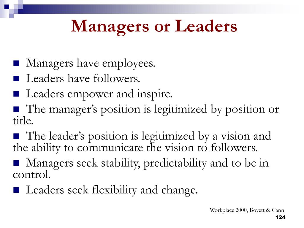 Managers have employees.