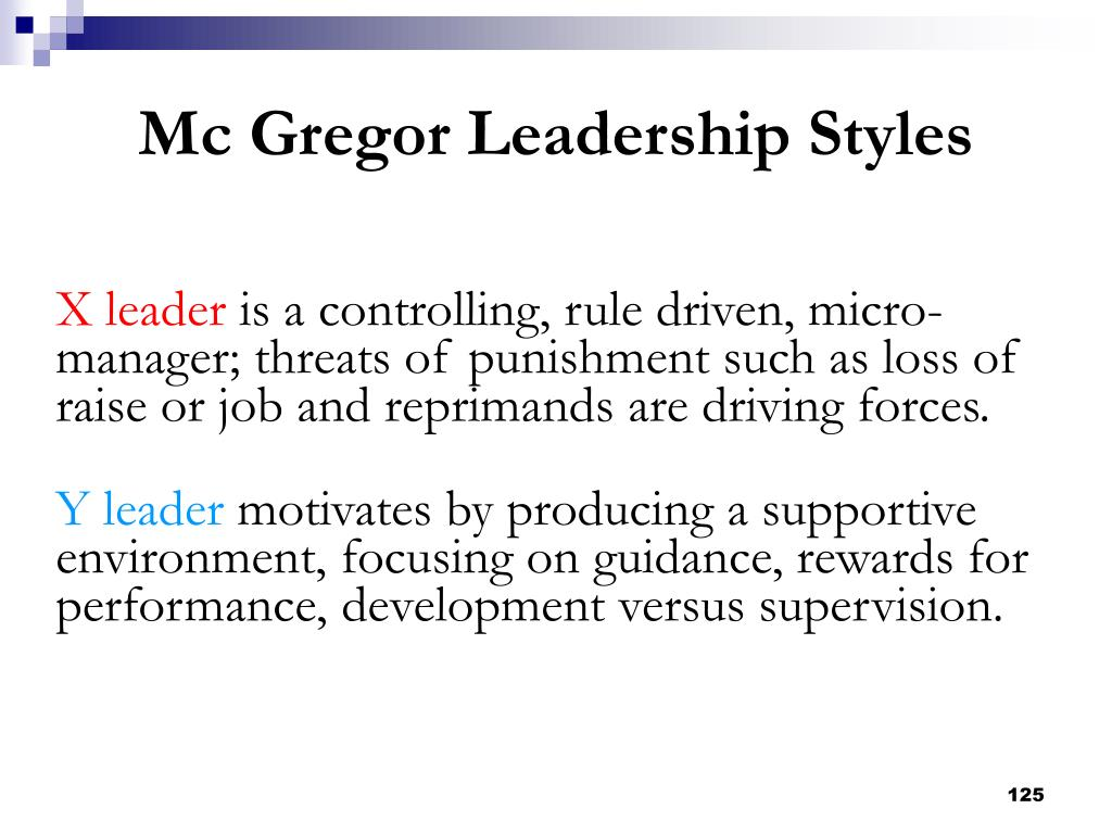 X leader