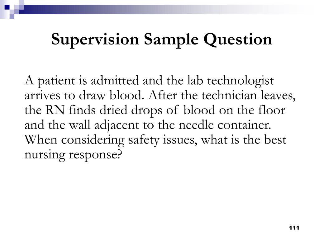 Supervision Sample Question
