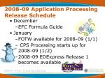 2008 09 application processing release schedule70