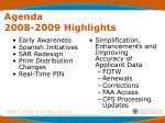 agenda 2008 2009 highlights
