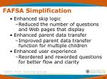 fafsa simplification
