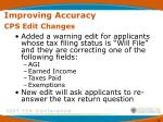 improving accuracy cps edit changes61