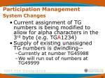participation management system changes