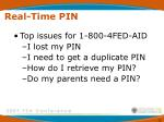 real time pin