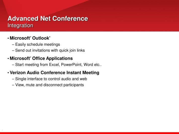 Advanced net conference integration