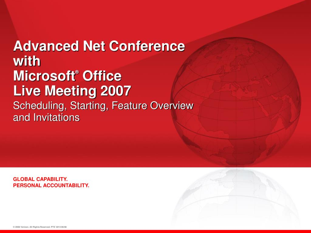 Advanced Net Conference with