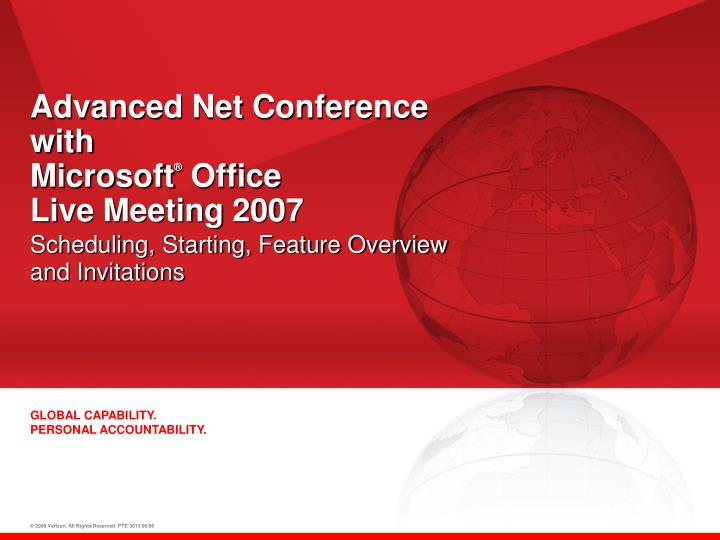 Advanced net conference with microsoft office live meeting 2007