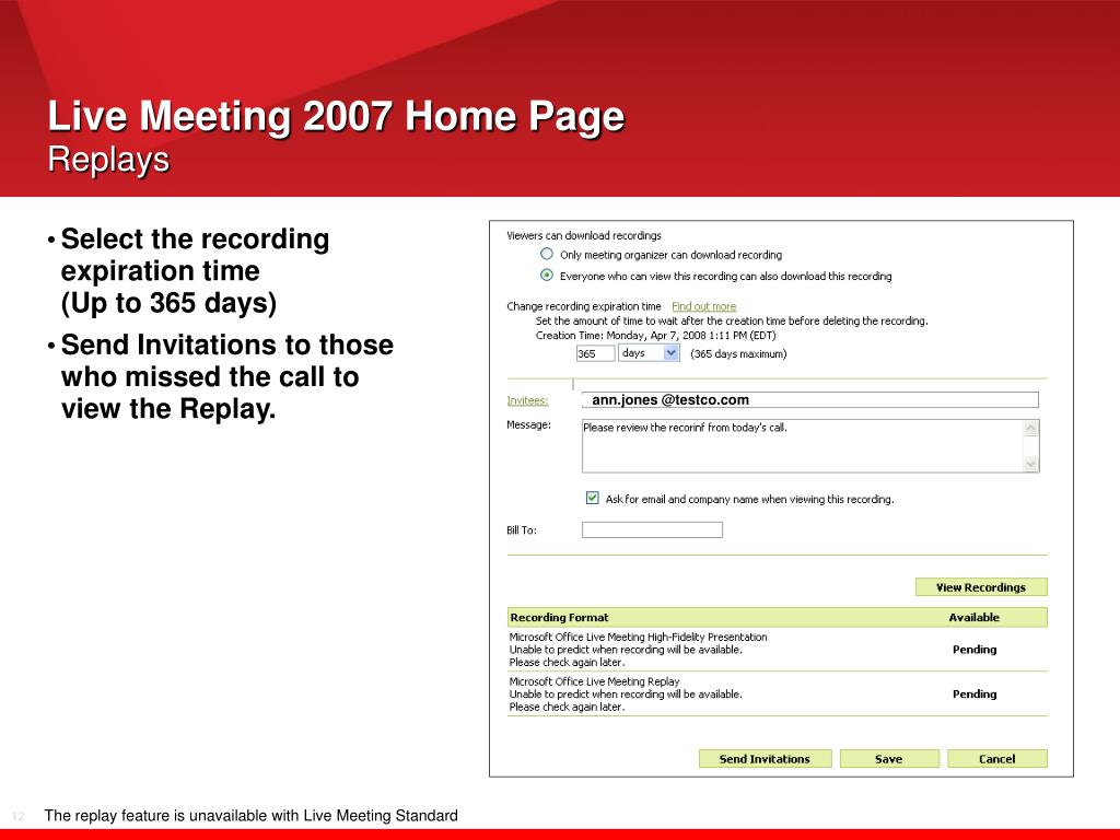 Live Meeting 2007 Home Page