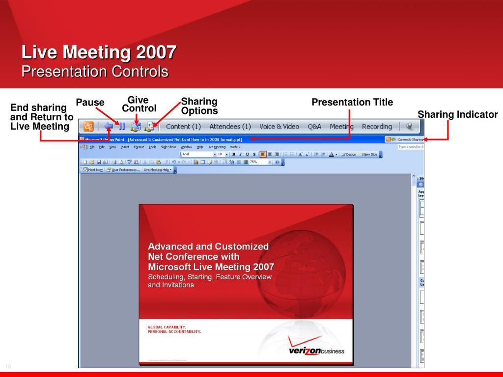 Live Meeting 2007