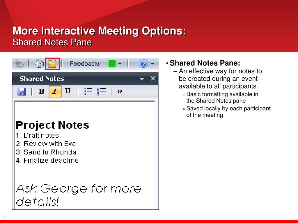 More Interactive Meeting Options: