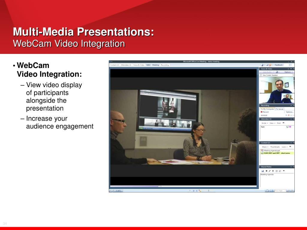 Multi-Media Presentations: