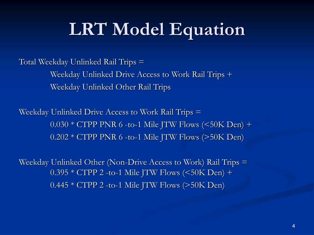 LRT Model Equation